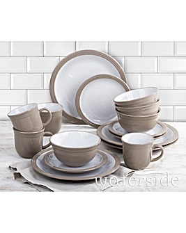 16 Piece Camden Dinner Set Taupe