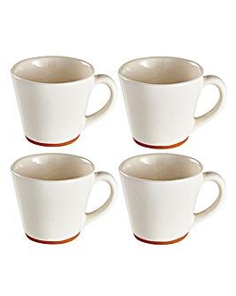 Jantar Terracotta Large Mugs Set of 4