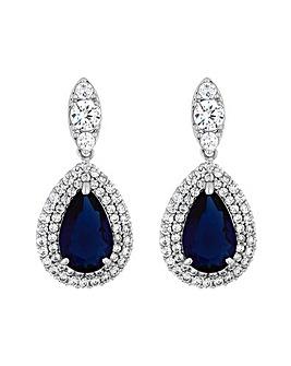 Jon Richard Sapphire Pear Drop Earring