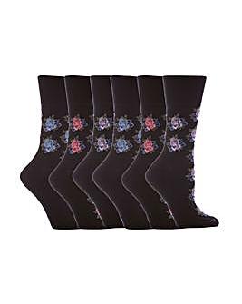 6 Pair Gentle Grip Core Socks