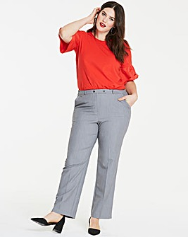 Workwear Straight Leg Trousers Petite