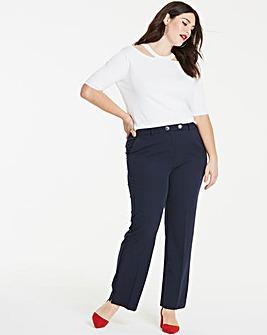 Workwear Straight Leg Trousers Petite