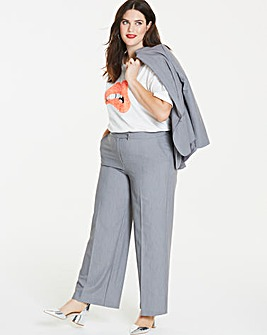 Tailored Wide Leg Trousers Long