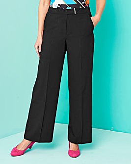 Workwear Wide Leg Trousers Petite