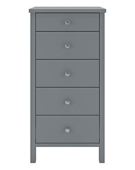 Devon 5 Drawer Narrow Chest