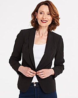 Tailored Shawl Collar Short Blazer