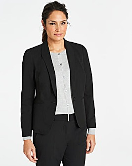 Workwear Shawl Collar Short Blazer