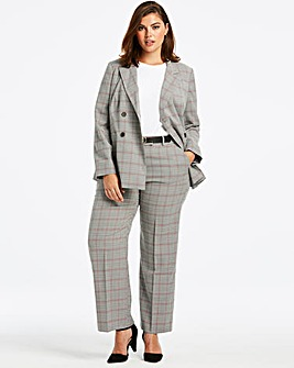 Double Breasted Checked Blazer