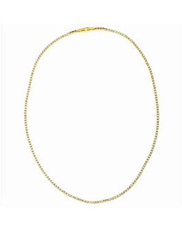Crystal Glitz Gold Plated Single Strand Crystal Necklace