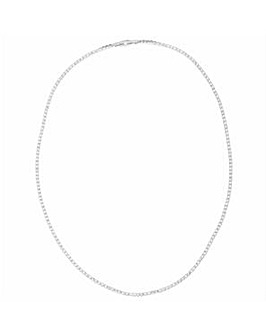 Crystal Glitz Silver Plated Single Strand Crystal Necklace