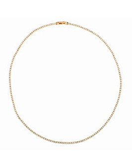 Crystal Glitz Rose Gold Plated Single Strand Crystal Necklace
