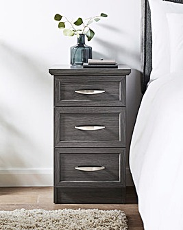 Kingston 3 Drawer Bedside Table