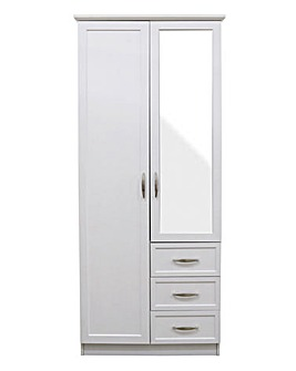 Kingston 2 Door 3 Drawer Wardrobe