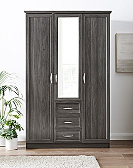 Kingston 3 Door 3 Drawer Wardrobe