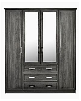 Kingston 4 Door 3 Drawer Wardrobe