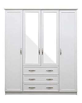 Kingston 4 Door 3 Drawer Wardrobe