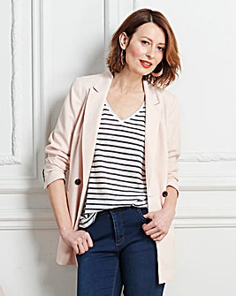Double Breasted Crepe Blazer
