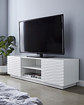 Saskia High Gloss 2 Door Wide TV unit