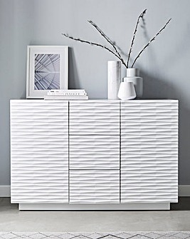 Saskia High Gloss 2 Door 3 Drawer Large Sideboard