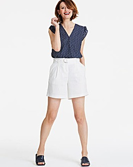 Belted Slouch Linen Short