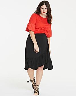 Fill Hem Midi Skirt