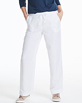 Easy Care Linen Mix Trousers