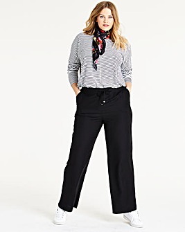 Easy Care Linen Mix Trousers Short