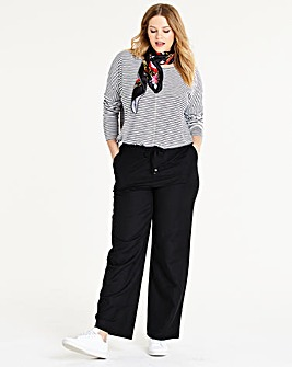 Easy Care Linen Mix Trousers Regular