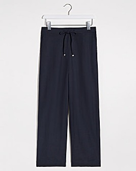 Extra Petite Easy Care Linen Mix Trousers