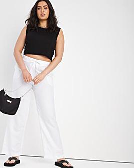 Linen Mix Trousers Long