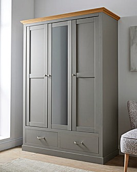 Ashford 3 Door 2 Drawer Mirror Wardrobe