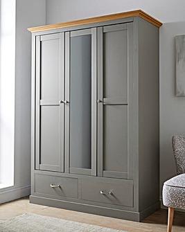 Ashford 3 Door 2 Drawer Wardrobe with Mirror