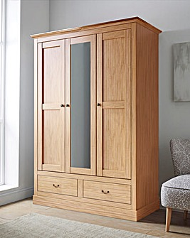 Ashford 3 Door 2 Drawer Wardrobe with Mirror
