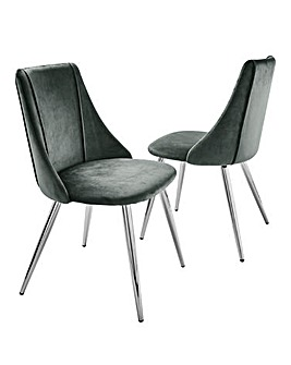 Anais Velvet Pair of Dining Chairs