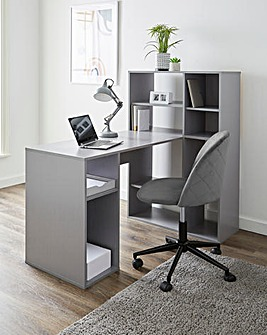 Chrysler Large Corner Desk with Storage