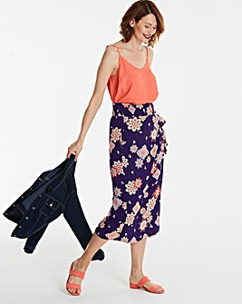 Print Crinkle Wrap Culottes