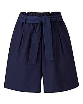 Petite Cotton Poplin Shorts