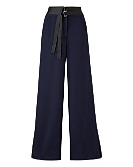 Petite Textured Wide Leg Trousers