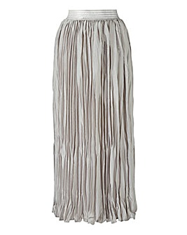 Metallic Pleat Maxi Skirt Petite
