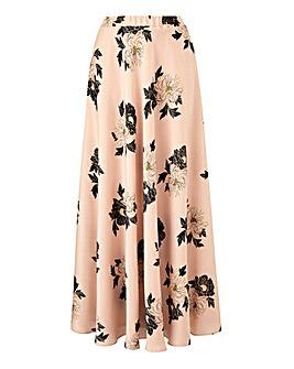 Petite Foil Floral Print Maxi Skirt