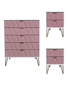 Remi Assembled 3 Piece Bedroom Package