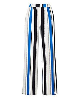Petite Stripe Wide Leg Jersey Trousers