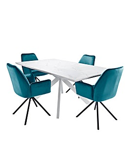 Alessia Large Table 4 Lexington Chairs