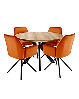 Austin Circular Table 4 Lexington Chairs