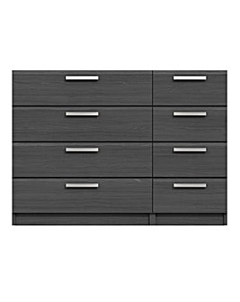Lugo Assembled 4 plus 4 Drawer Chest