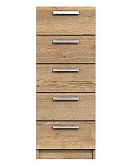 Lugo Assembled 5 Drawer Tallboy Chest