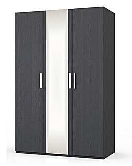 Lugo Ready 3 Door Wardrobe with Mirror