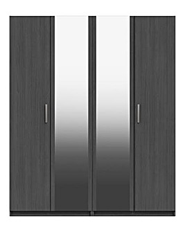 Lugo 4 Door Wardrobe with Mirror