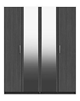 Lugo 4 Door Wardrobe with Mirror
