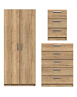 Lugo Assembled 3 Piece Bedroom Package